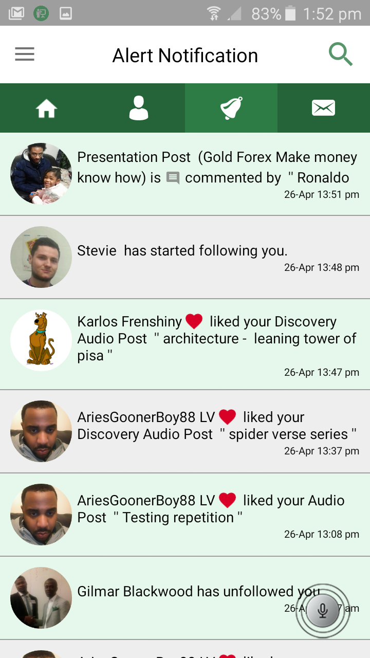 Notification Feed